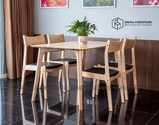 Bàn ghế ăn Classic-Tashii 1m4
