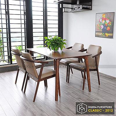 Bàn ghế ăn Classic-HF2012 1m4