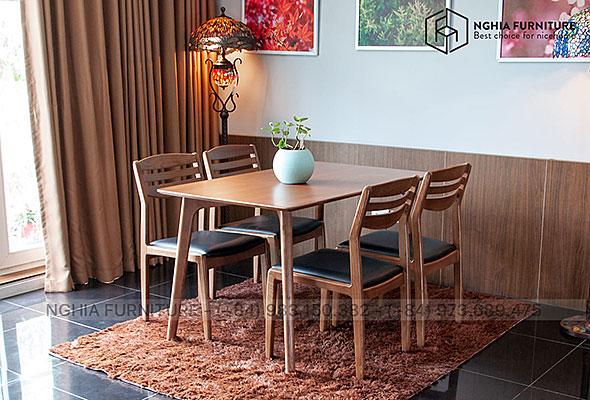Bàn ghế ăn Classic-Vega 1m4