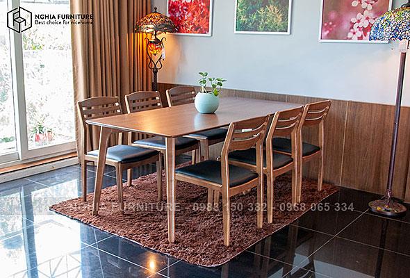 Bàn ghế ăn Classic-Vega 1m9