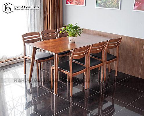 Bàn ghế ăn Classic-Vega 1m65