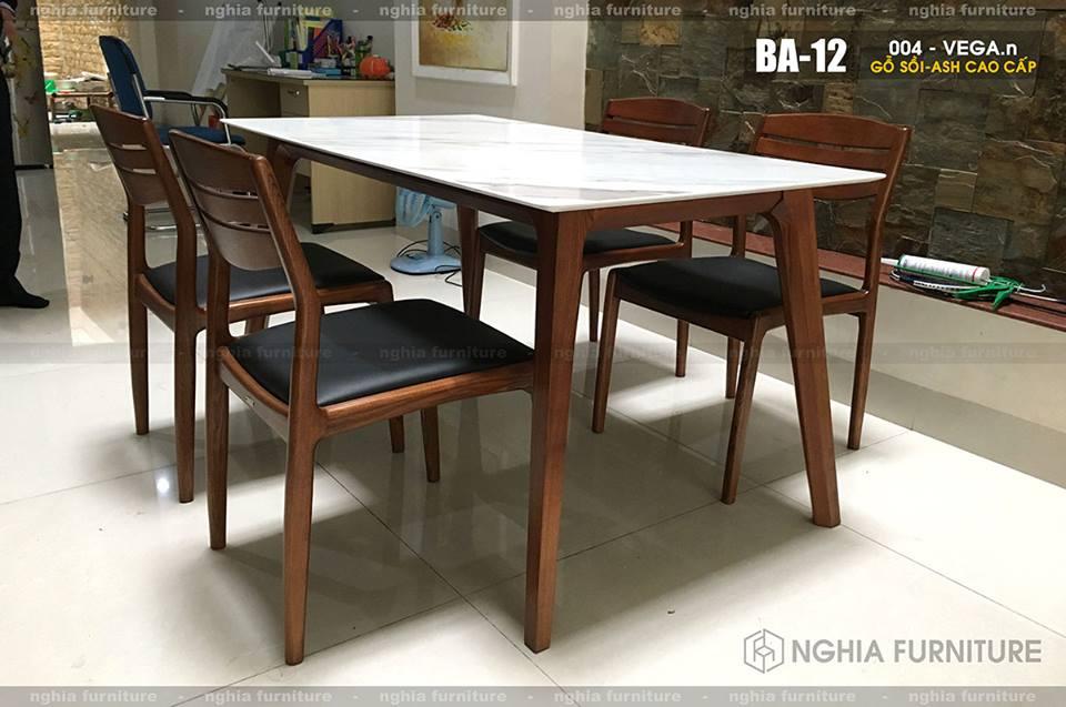 Bàn ghế ăn mặt đá - Vega New