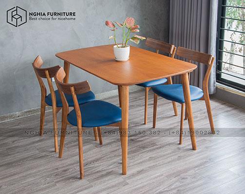 Bàn ghế ăn Simile-Hiko 01 1m25