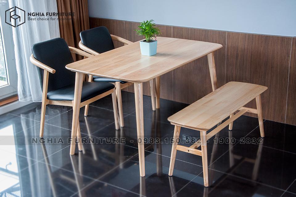 Bàn ghế ăn Smile-HF2012-Băng 1m25
