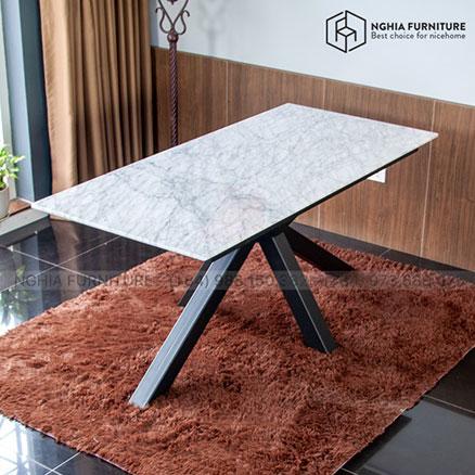 Bàn Slender Table 05 mặt đá