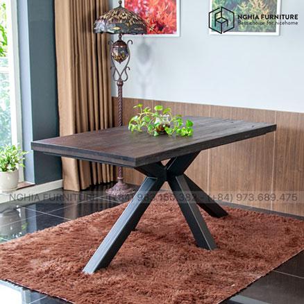 Bàn Slender Table 05 mặt gỗ