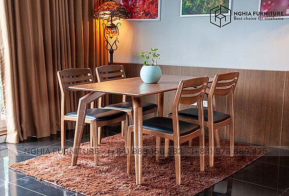 Bộ bàn ghế ăn 901-Vega 1m4