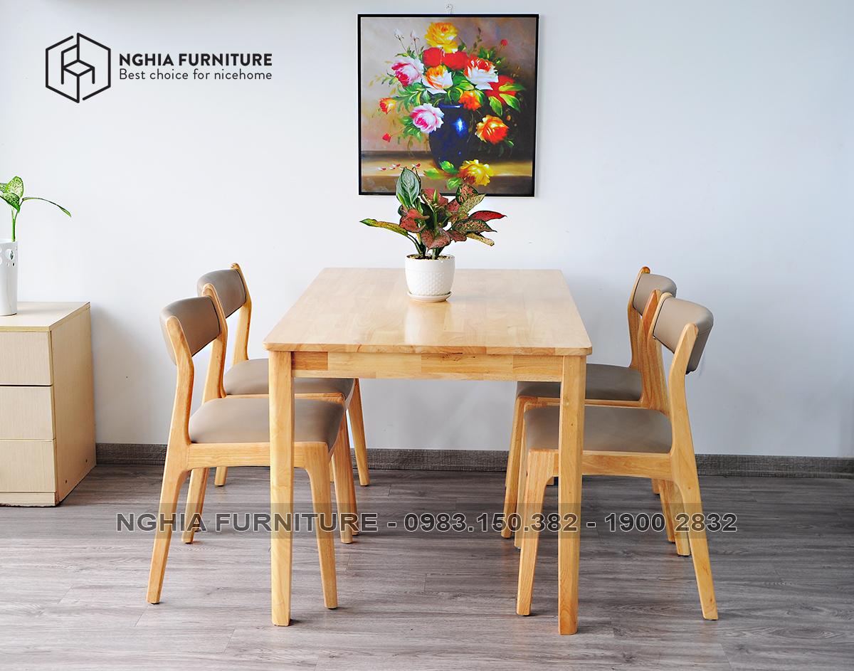 Bộ bàn ghế ăn Bella - C