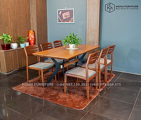 Bàn ghế ăn Slender 03-Vega 1m68