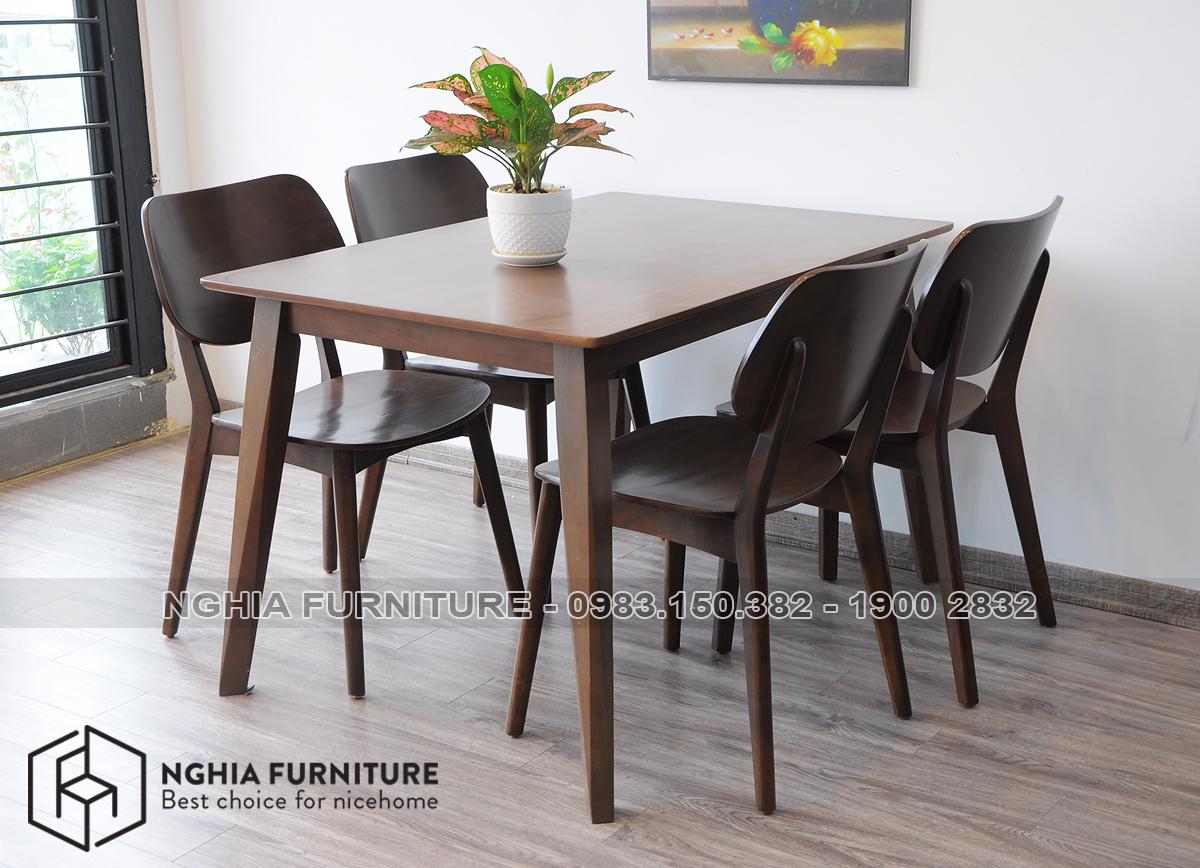 Bộ bàn ghế ăn Venus mặt gỗ