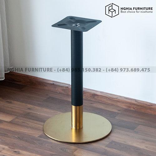 Chân bàn Cafe Aluminmu table 10