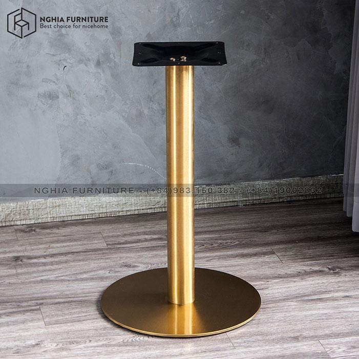 Chân bàn Cafe Aluminmu table 01