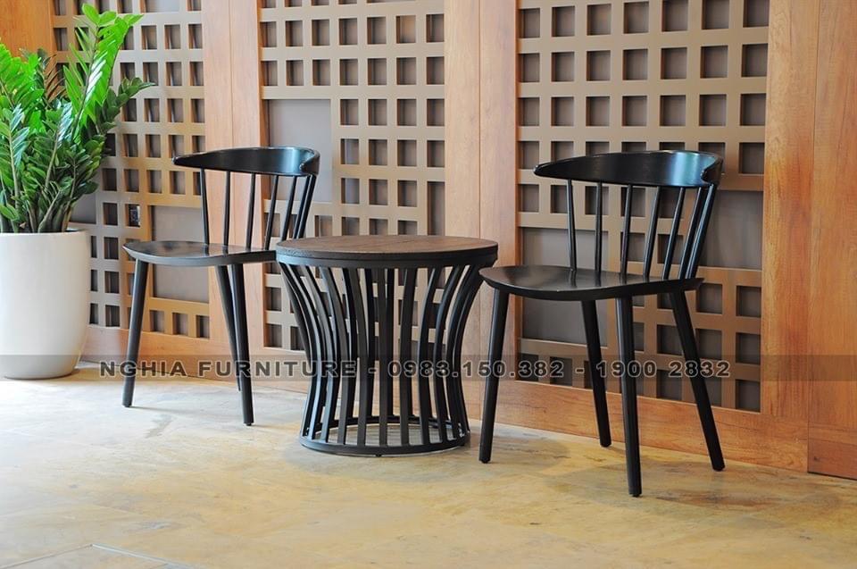 TL-Ghế HARP gỗ cao su màu đen